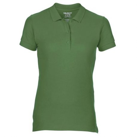 Premium Cotton Ladies' Double Piqué Polo MILITARYGREEN