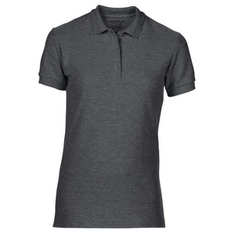 Premium Cotton Ladies' Double Piqué Polo donker grijs
