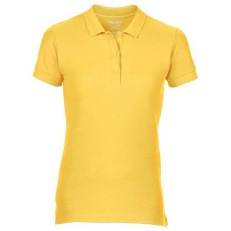 Premium Cotton Ladies' Double Piqué Polo geel