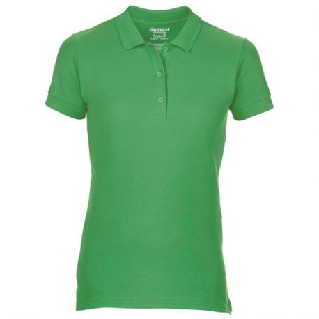 Premium Cotton Ladies' Double Piqué Polo iers groen