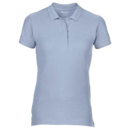 Premium Cotton Ladies' Double Piqué Polo licht blauw