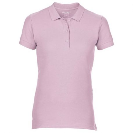 Premium Cotton Ladies' Double Piqué Polo licht roze