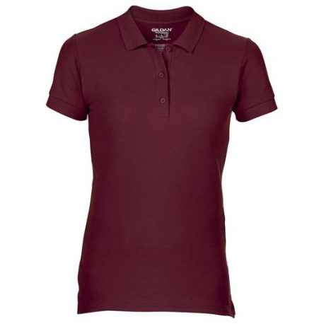 Premium Cotton Ladies' Double Piqué Polo maroon