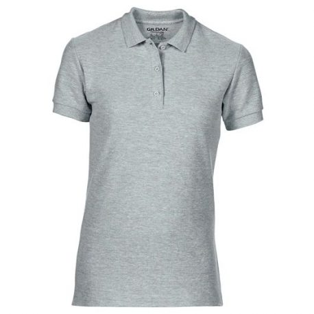 Premium Cotton Ladies Double Piqué Polo merlee ash