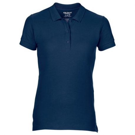 Premium Cotton Ladies' Double Piqué Polo navy