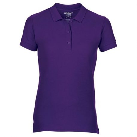 Premium Cotton Ladies' Double Piqué Polo paars