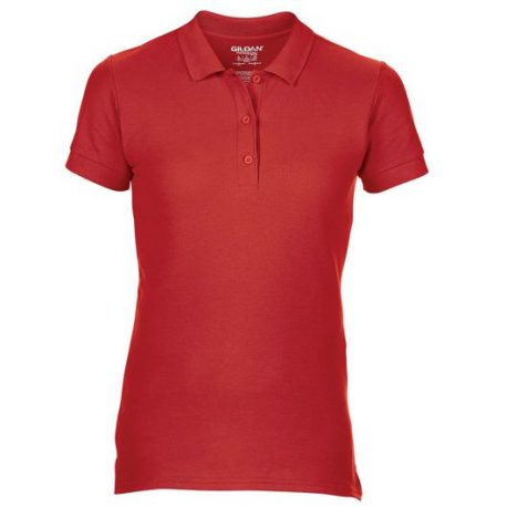 Premium Cotton Ladies' Double Piqué Polo rood