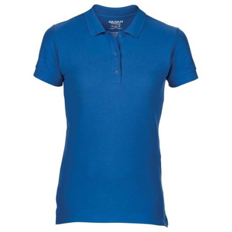 Premium Cotton Ladies' Double Piqué Polo royal blue