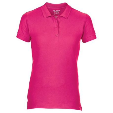 Premium Cotton Ladies' Double Piqué Polo roze