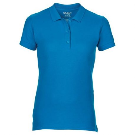 Premium Cotton Ladies' Double Piqué Polo sapphire