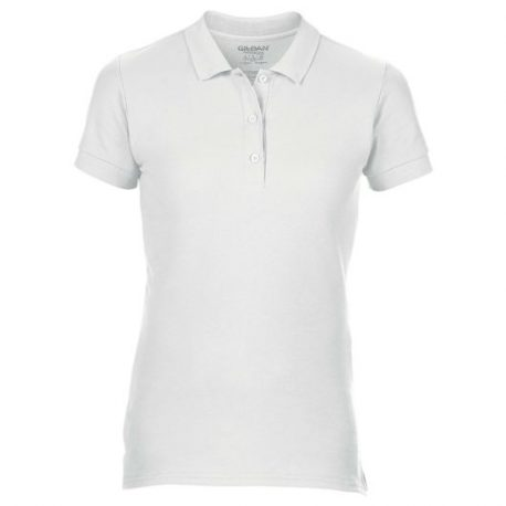 Premium Cotton Ladies' Double Piqué Polo white