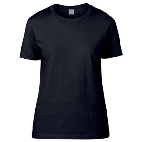 Premium Cotton Ring Spun Semi-fitted Ladies' T-shirt black