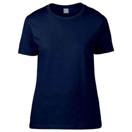 Premium Cotton Ring Spun Semi-fitted Ladies' T-shirt navy