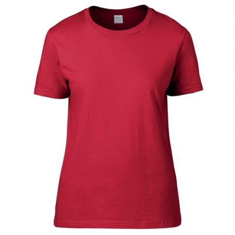Premium Cotton Ring Spun Semi-fitted Ladies' T-shirt red