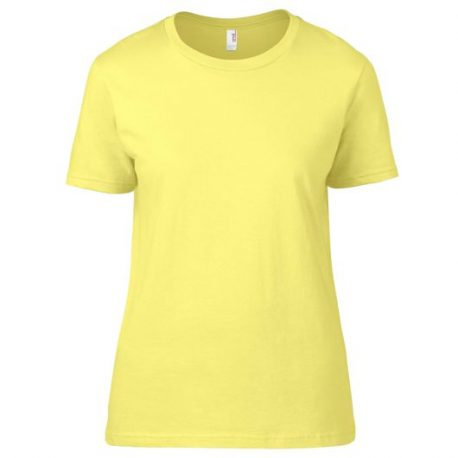 Premium Cotton Ring Spun Semi-fitted Ladies' T-shirt yellow
