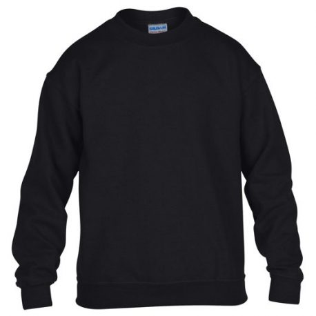 Heavy Blend Classic Fit Youth Crewneck Sweatshirt BLACK