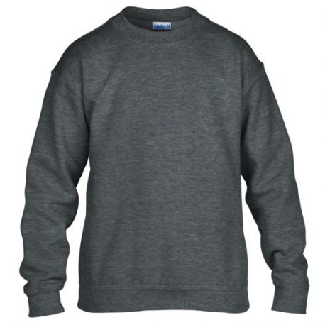 Heavy Blend Classic Fit Youth Crewneck Sweatshirt DARKHEATHER