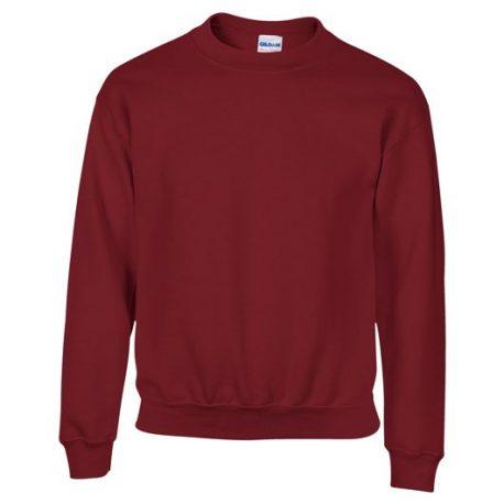 Heavy Blend Classic Fit Youth Crewneck Sweatshirt GARNET