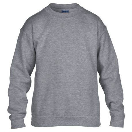 Heavy Blend Classic Fit Youth Crewneck Sweatshirt GRAPHITEHEATHER