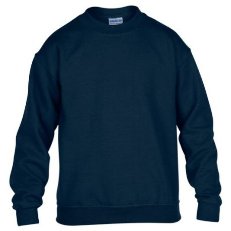 Heavy Blend Classic Fit Youth Crewneck Sweatshirt NAVY