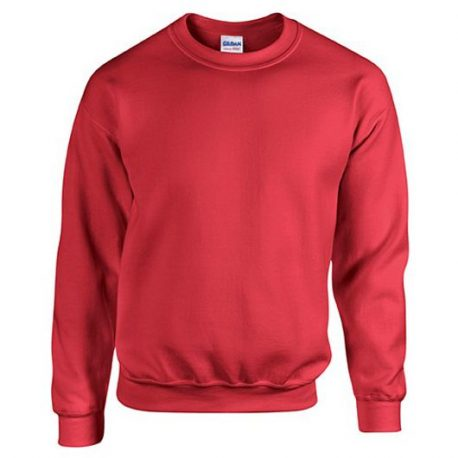 Heavy Blend Classic Fit Youth Crewneck Sweatshirt RED