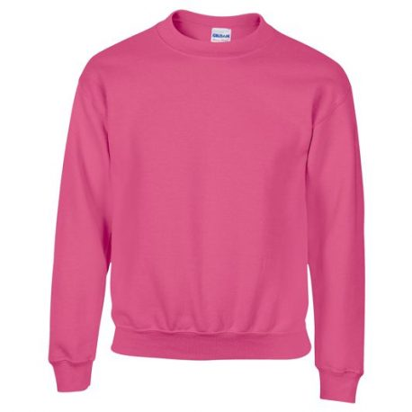 Heavy Blend Classic Fit Youth Crewneck Sweatshirt SAFETYPINK