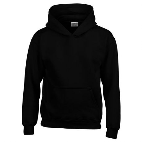 Heavy Blend Classic Fit Youth Hooded Sweatshirt BLACK
