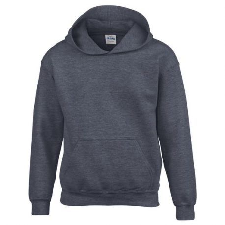 Heavy Blend Classic Fit Youth Hooded Sweatshirt DARKHEATHER