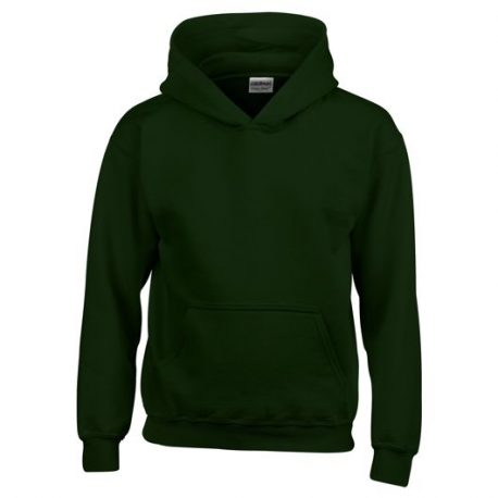 Heavy Blend Classic Fit Youth Hooded Sweatshirt FORESTGREEN