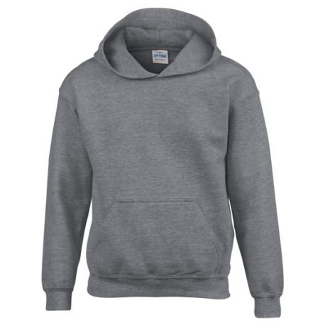 Heavy Blend Classic Fit Youth Hooded Sweatshirt GRAPHITEHEATHER
