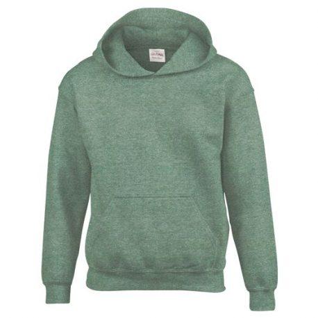 Heavy Blend Classic Fit Youth Hooded Sweatshirt HEATHERSPORTDARKGREEN