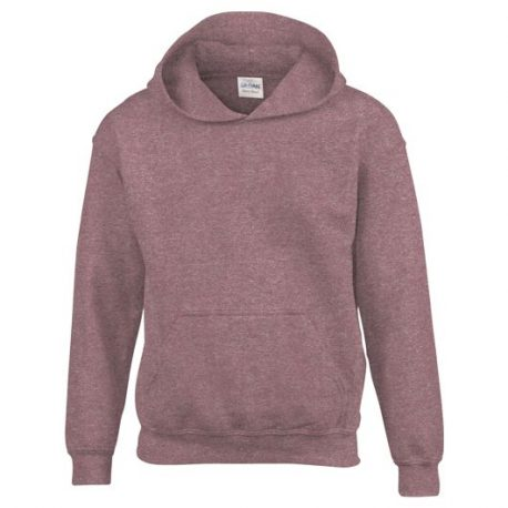 Heavy Blend Classic Fit Youth Hooded Sweatshirt HEATHERSPORTDARKMAROON