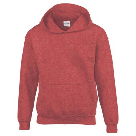 Heavy Blend Classic Fit Youth Hooded Sweatshirt HEATHERSPORTSCARLETRED