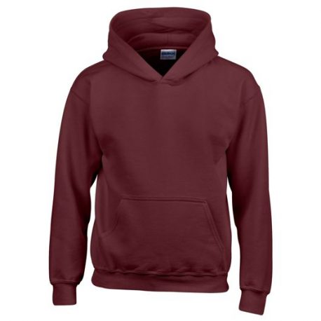 Heavy Blend Classic Fit Youth Hooded Sweatshirt MAROON