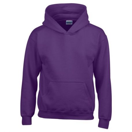 Heavy Blend Classic Fit Youth Hooded Sweatshirt PURPLE