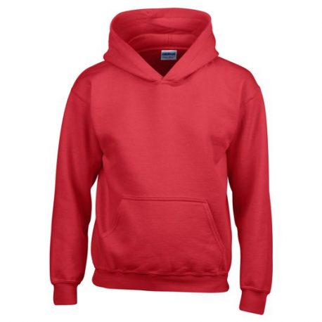 Heavy Blend Classic Fit Youth Hooded Sweatshirt RED