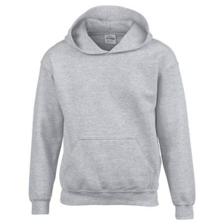 Heavy Blend Classic Fit Youth Hooded Sweatshirt SPORTGREY