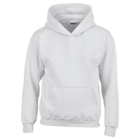 Heavy Blend Classic Fit Youth Hooded Sweatshirt white