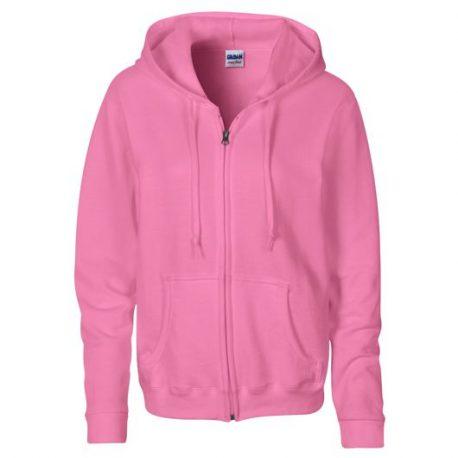 Heavy Blend Ladies' Full Zip Hooded Sweatshirt AZALEA