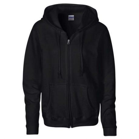 Heavy Blend Ladies' Full Zip Hooded Sweatshirt Black