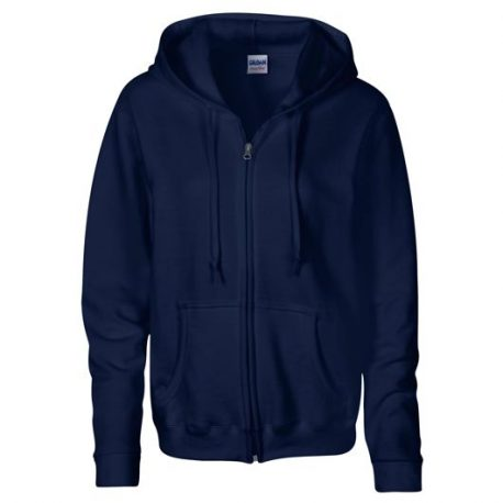 Heavy Blend Ladies' Full Zip Hooded Sweatshirt NAVY
