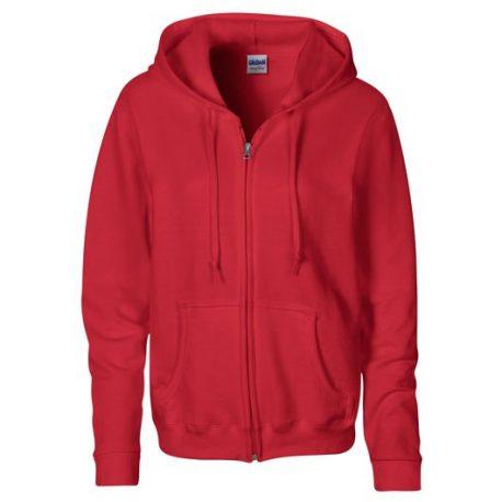 Heavy Blend Ladies' Full Zip Hooded Sweatshirt RED
