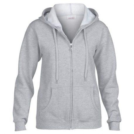 Heavy Blend Ladies' Full Zip Hooded Sweatshirt SPORTGREY