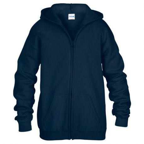 Heavy Blend classic Fit Youth Full Zip Hooded Sweatshirt NAVY