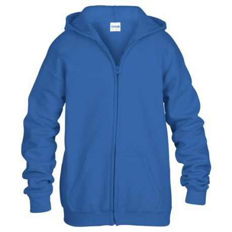 Heavy Blend classic Fit Youth Full Zip Hooded Sweatshirt ROYALBLUE