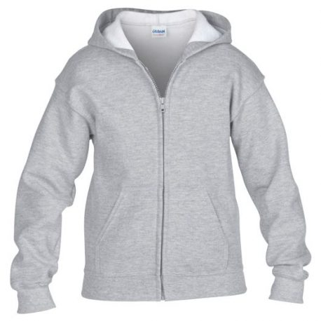Heavy Blend classic Fit Youth Full Zip Hooded Sweatshirt SPORTGREY
