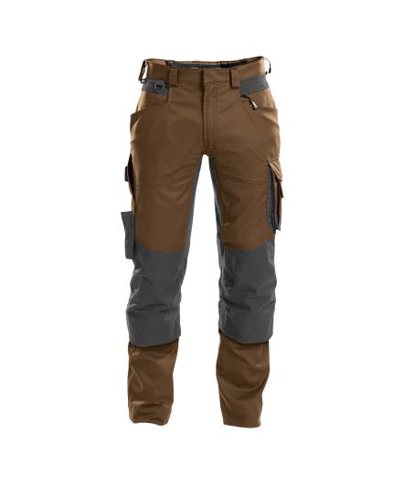 dynax_work-trousers-with-stretch-and-knee-pockets_clay-brown-anthracite-grey_front – kopie
