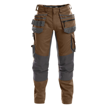 flux_work-trousers-with-stretch,-holster-and-knee-pockets_clay-brown-anthracite-grey_front