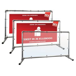 Buizen frame hek inclusief bord
