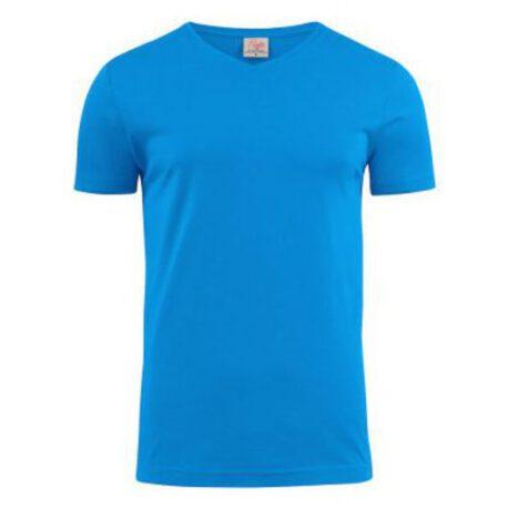 t shirt v oceaanblauw